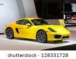 Постер, плакат: A Porsche Cayman on