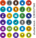white solid icon set  plunger... | Shutterstock .eps vector #1283317360