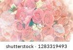 romantic blurred pink rose... | Shutterstock . vector #1283319493