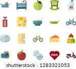color flat icon set   mothers... | Shutterstock .eps vector #1283321053