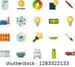 color flat icon set   atom flat ... | Shutterstock .eps vector #1283322133