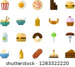 color flat icon set   cake flat ... | Shutterstock .eps vector #1283322220