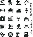 solid black vector icon set  ... | Shutterstock .eps vector #1283323579