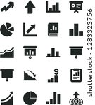 solid black vector icon set  ... | Shutterstock .eps vector #1283323756
