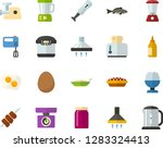 color flat icon set   poached... | Shutterstock .eps vector #1283324413