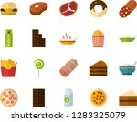color flat icon set   sausage... | Shutterstock .eps vector #1283325079