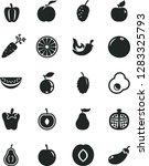 solid black vector icon set  ... | Shutterstock .eps vector #1283325793