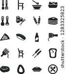 solid black vector icon set  ... | Shutterstock .eps vector #1283325823