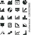solid black vector icon set  ... | Shutterstock .eps vector #1283325883