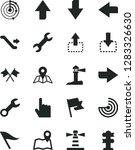 solid black vector icon set  ... | Shutterstock .eps vector #1283326630