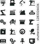 solid black vector icon set  ... | Shutterstock .eps vector #1283326636