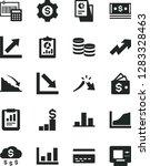solid black vector icon set  ... | Shutterstock .eps vector #1283328463