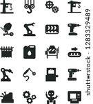 solid black vector icon set  ... | Shutterstock .eps vector #1283329489