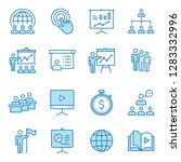 presentation line icons. set of ... | Shutterstock .eps vector #1283332996