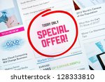 internet advertisement with... | Shutterstock . vector #128333810