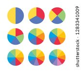 set of colorful info piecharts  ...