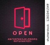 open neon light glowing vector... | Shutterstock .eps vector #1283341549