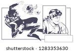 stock illustration. scuba... | Shutterstock .eps vector #1283353630