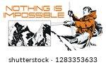 stock illustration. climber in... | Shutterstock .eps vector #1283353633