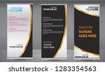 roll up banner black  golden...   Shutterstock .eps vector #1283354563