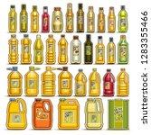 vector set of cooking oil in... | Shutterstock .eps vector #1283355466