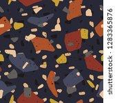 terrazzo texture seamless...   Shutterstock .eps vector #1283365876