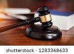 the judge gavel hammer of... | Shutterstock . vector #1283368633