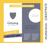 mask company brochure template. ... | Shutterstock .eps vector #1283379670
