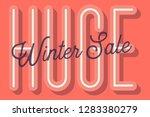 huge winter sale banner vector... | Shutterstock .eps vector #1283380279