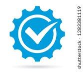 check mark on gear background.... | Shutterstock .eps vector #1283381119