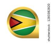 flag of guyana  location map... | Shutterstock .eps vector #1283382820