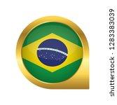 flag of brazil  location map... | Shutterstock .eps vector #1283383039