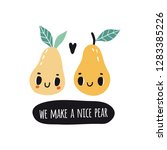 we make a nice pear. print with ...   Shutterstock .eps vector #1283385226