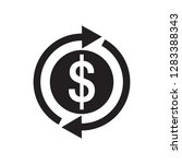 dollar money   black icon on... | Shutterstock .eps vector #1283388343
