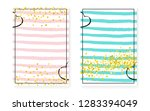 bridal shower set with dots and ... | Shutterstock .eps vector #1283394049