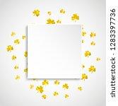 saint patricks paper badge with ... | Shutterstock .eps vector #1283397736