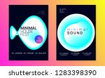 music poster set. electronic... | Shutterstock .eps vector #1283398390