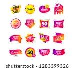 sale banner templates design.... | Shutterstock .eps vector #1283399326