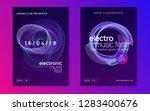 sound flyer. trendy show banner ... | Shutterstock .eps vector #1283400676