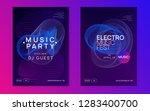 club flyer. futuristic... | Shutterstock .eps vector #1283400700