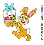 hand drawn easter bunny easter... | Shutterstock . vector #128340098