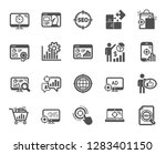 seo icons. set of increase... | Shutterstock .eps vector #1283401150