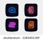 neon glow lights. set of phone...
