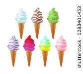 raster copy set of different... | Shutterstock . vector #1283401453