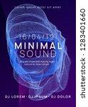 electronic fest. dynamic... | Shutterstock .eps vector #1283401660