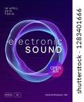 techno event. dynamic gradient... | Shutterstock .eps vector #1283401666