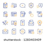 reject or cancel line icons.... | Shutterstock .eps vector #1283403409