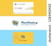 beautiful halloween cards  logo ... | Shutterstock .eps vector #1283403433