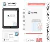 protected smartphone  business... | Shutterstock .eps vector #1283405629