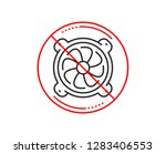 no or stop sign. computer... | Shutterstock .eps vector #1283406553
